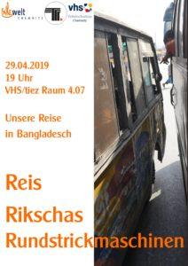 Unsere Reise in Bangladesch @ Volkshochschule Chemnitz, Raum 4.07